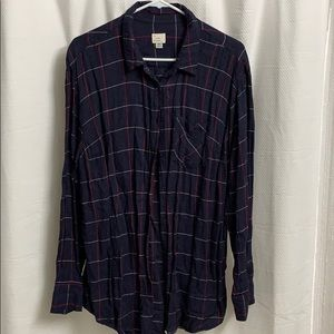 NWOT A New Day Plaid Top